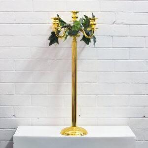 tall skinny gold candelabra