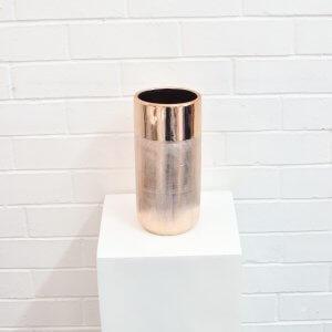 Rose Gold Ceramic Vase