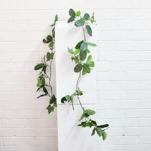 green and white garland
