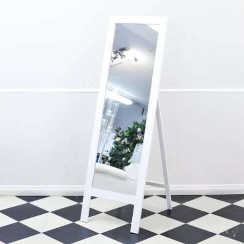 tall white mirror