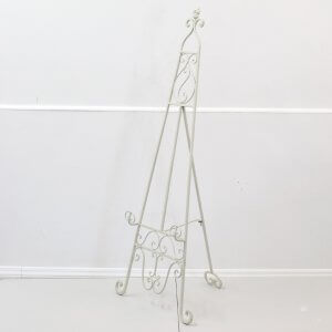Cream Metal Floor Standing Easel