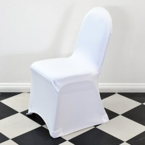 White Round Top Chair Cover