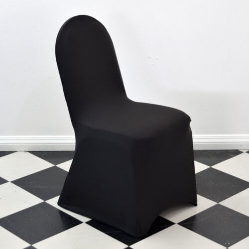 Black Round Top Chair Cover