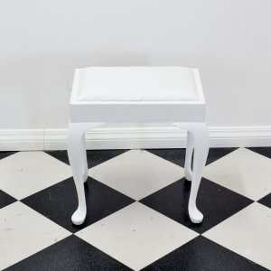 white-piano-stool