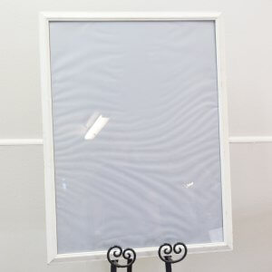 large cream frame