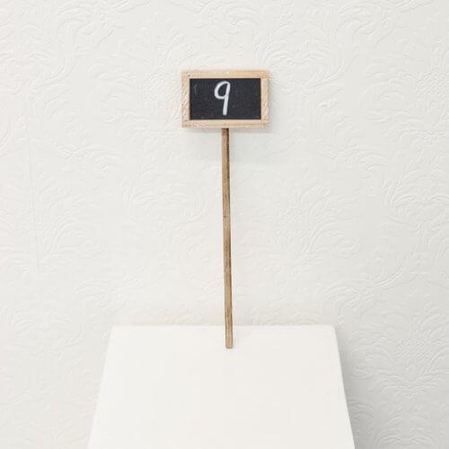 Chalkboard sign on stick