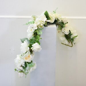 white floral garland simple