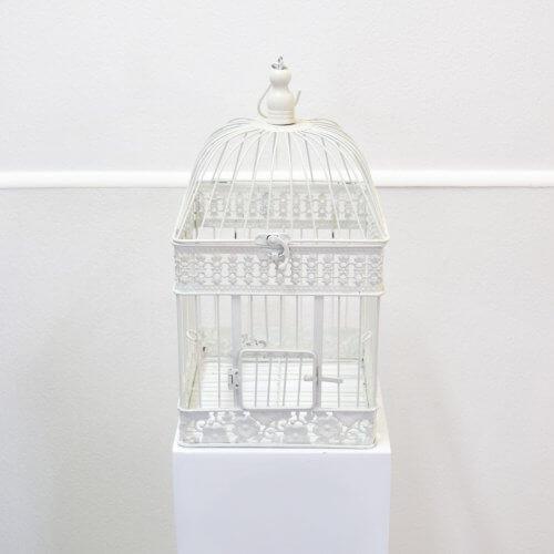 white square birdcage