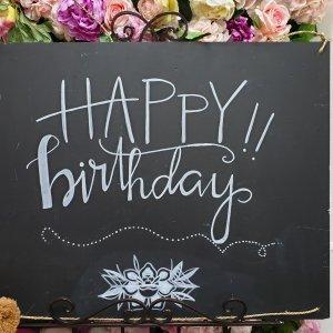 happy birthday chalkboard