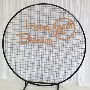 70th Birthday Sign