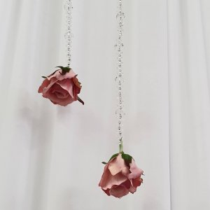 Crystal garland with a rose