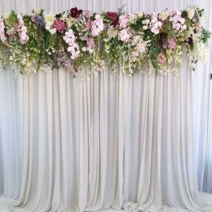 Floral Backdrop Pelmets