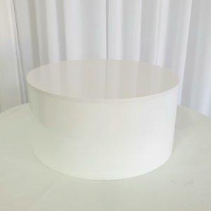 white around acrylic raiser